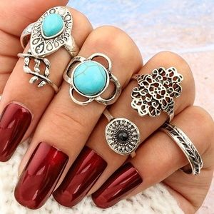 Jewelry - Last Call⚡️NEW🔥 6pc Bohemian Style Midi Ring Set